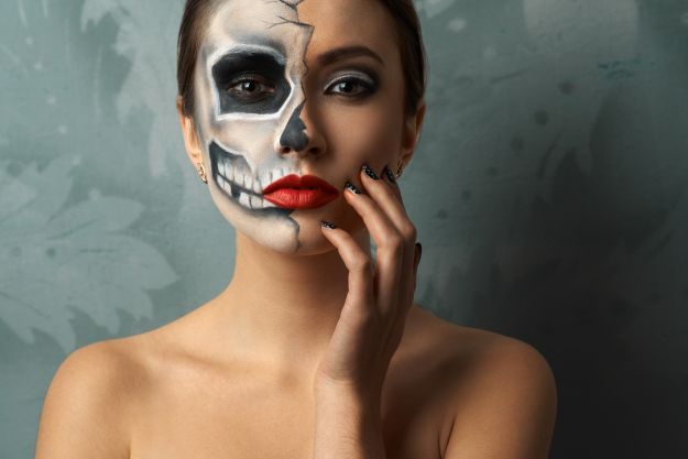Makijaż Na Halloween Sugar Skull Czaszka Twarz I Makijaż Polkipl