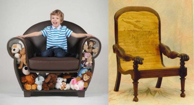duży fotel ze skrytką