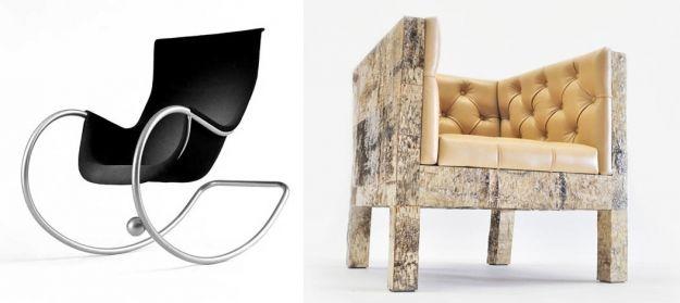 kontrastowe fotele