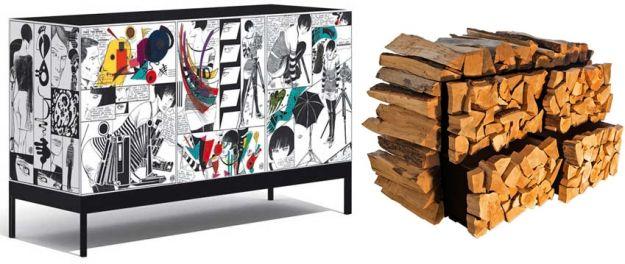 komoda w komiks i drewno