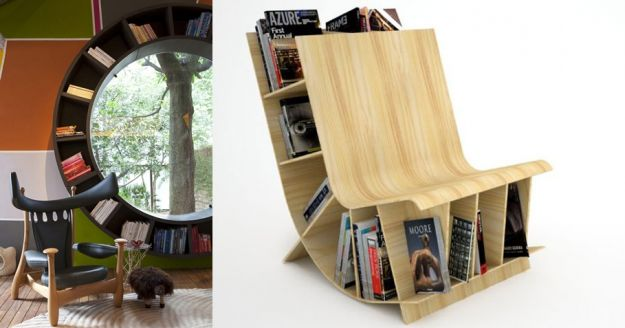okno i krzeslo z książkami