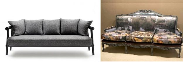 kanapa  kontrastowy styl