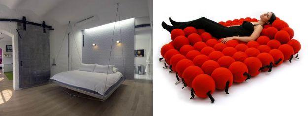 łóżko w kuleczki