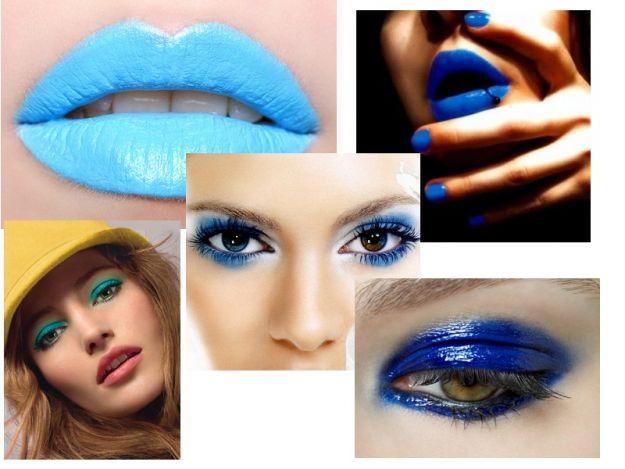 Makijaż niebieski, pomrańczowy, fuksjowy...