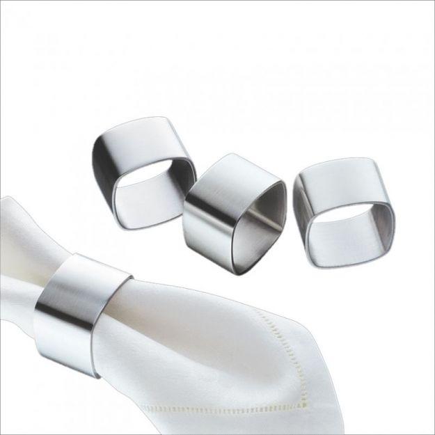 Metalowe pierścienie na serwetki