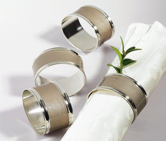 Eleganckie pierścienie na serwetki