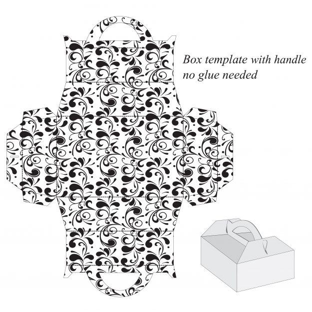 Pudełka prezentowe- 6 szablonów do druku
