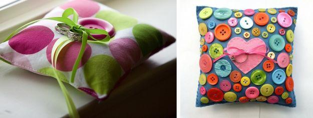 Oryginalne poduszki na obrączki