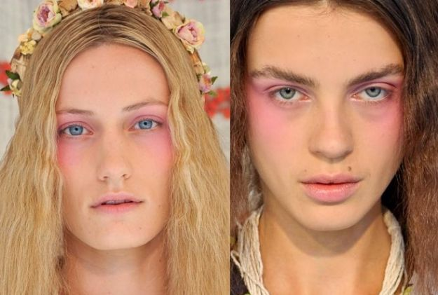 Różowy makijaż oczu na lato 2013