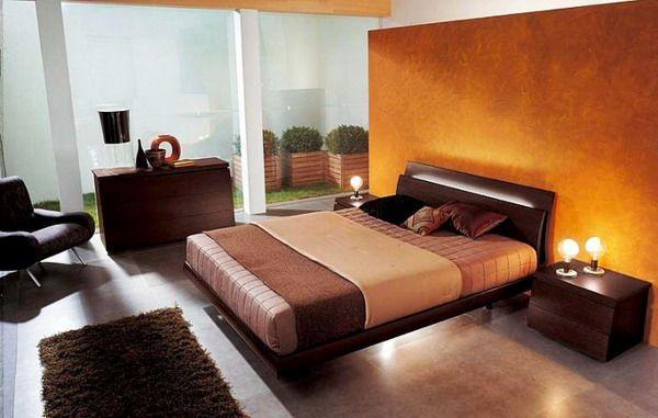 brązowa sypialnia