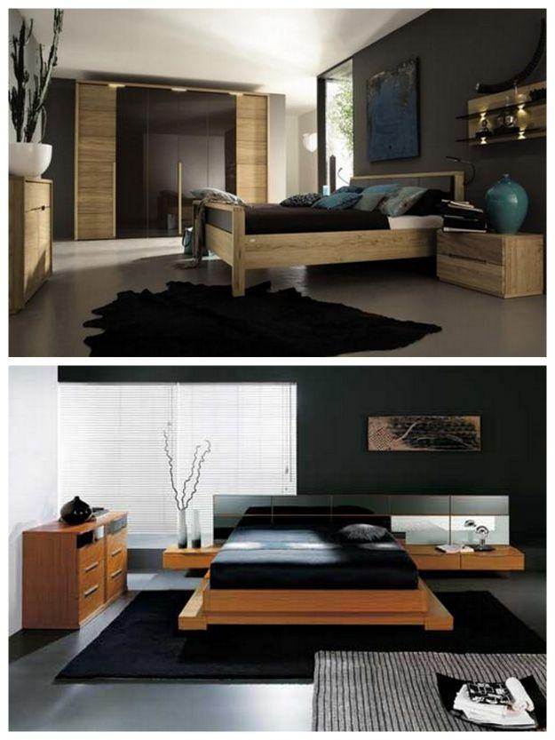 czarna sypialnia