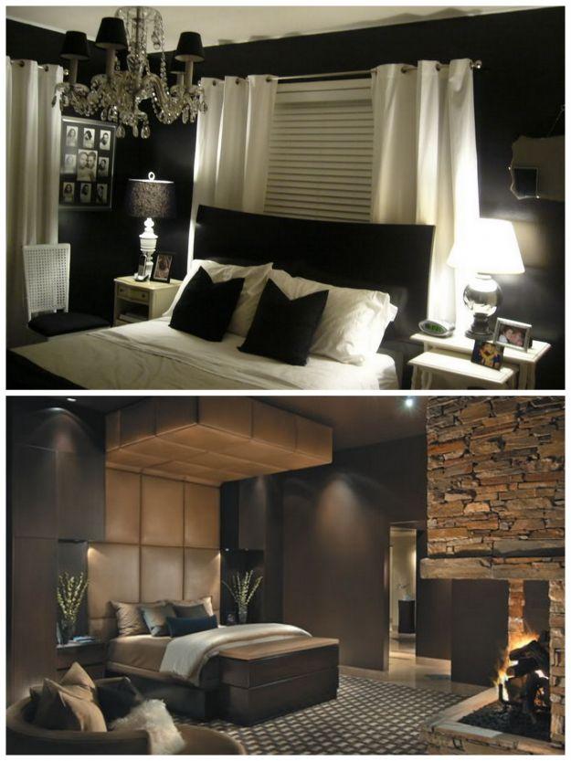 stylowa czarna sypialnia