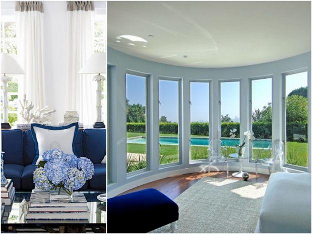 bialo- niebieskie mieszkanie