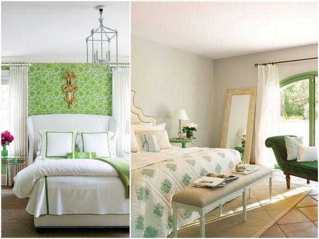 biało-zielone mieszkanie