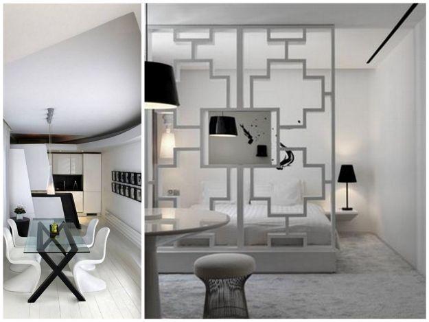 aranżacje biało- czarne w mieszkaniu