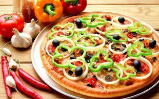 Warzywna pizza śródziemnomorska