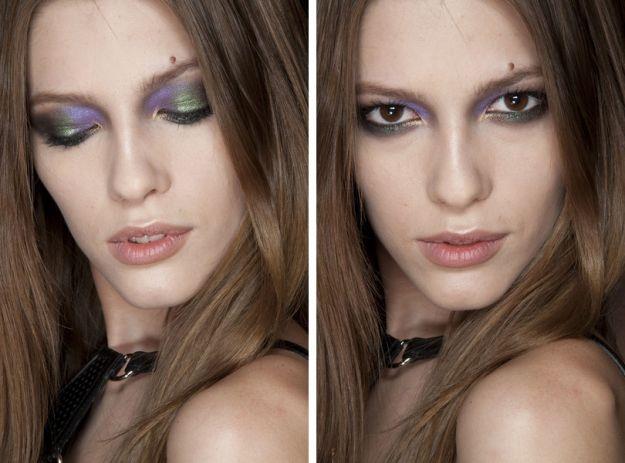Makijaż inspirowany pawim piórem
