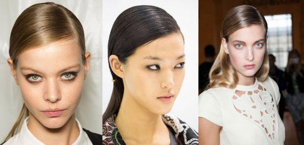Modny efekt mokrych włosów