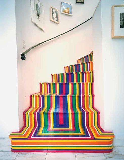 kolorowe schody