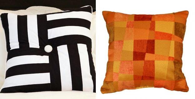pomarańczowa poduszka