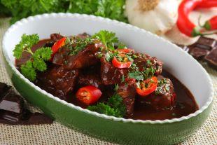 Kurczak w sosie czekoladowym - mole poblano