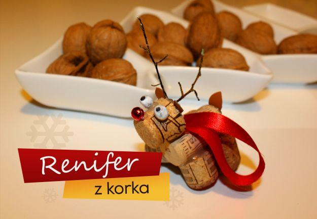 Renifer Z Korka Ozdoby świąteczne Aranżacje Wnętrz Polkipl