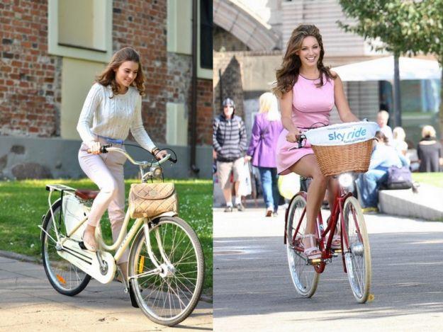 Modna na rowerze