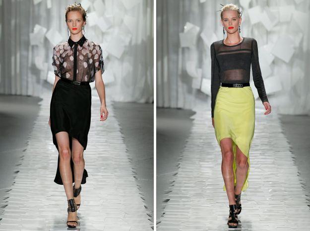 Spódnice i sukienki z asymetrycznym dołem - trendy wiosna/lato 2012!