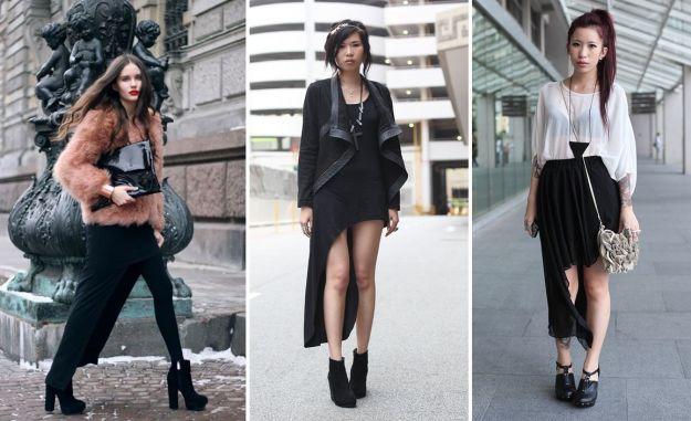 Asymetryczne spódnice i sukienki - trendy 2012!