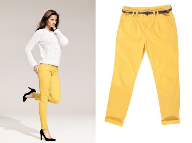 Kolorowe jeansy - trendy na wiosnę 2012