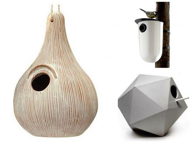 Designerskie domki dla ptaków