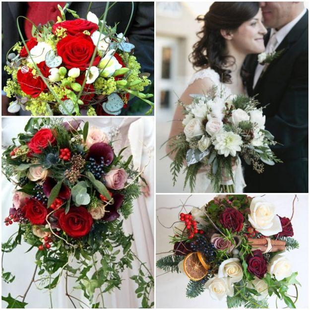 Świąteczny bukiet ślubny