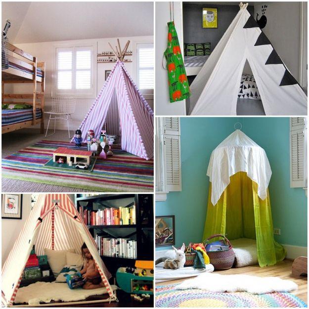 Namiot w pokoju dziecięcym
