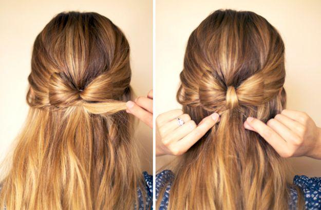 Kokardka z włosów - zrób ją sama!