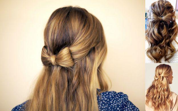 Fryzury Młodzieżowe Damskie Kokardka Z Włosów