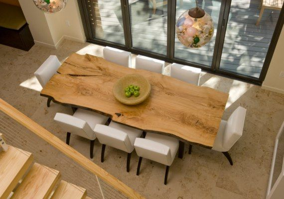 Stół z kawałka drewna