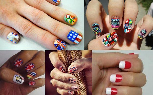 Manicure - flagi