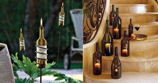 świecznik z butelek