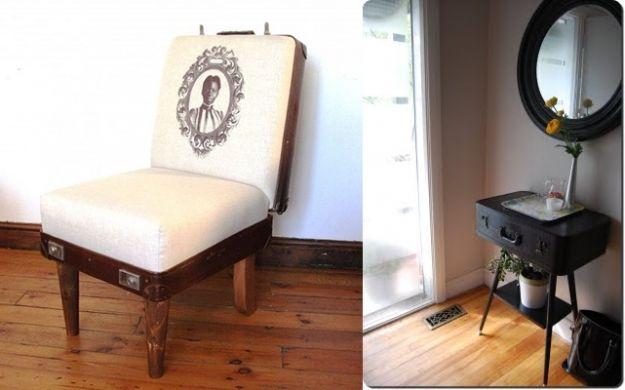 walizka jako krzesło