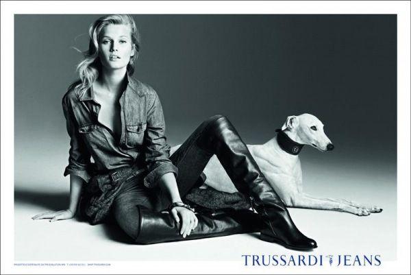 Toni Garrn i Matt Clunan w kampanii Trussardi Jeans na jesień – zimę 2012!