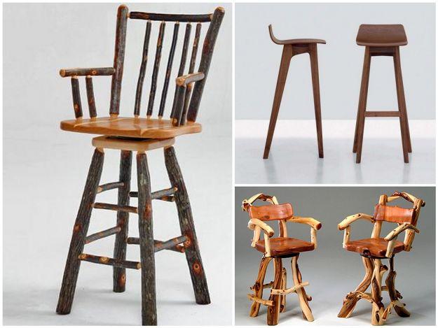drewniane krzesla barowe