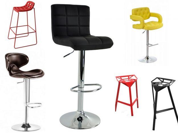 Krzesła barowe - nowoczesne