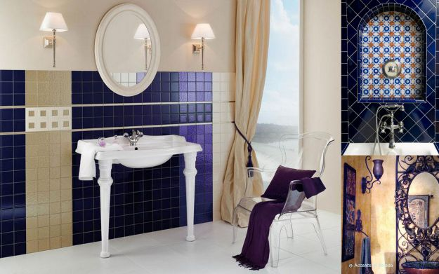 Łazienka w stylu hiszpańskim
