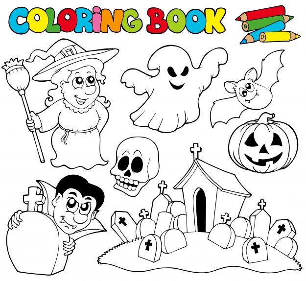 Kolorowanki na Halloween do wydruku