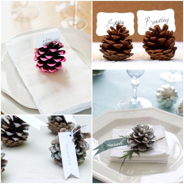 Świąteczne ozdoby z szyszki