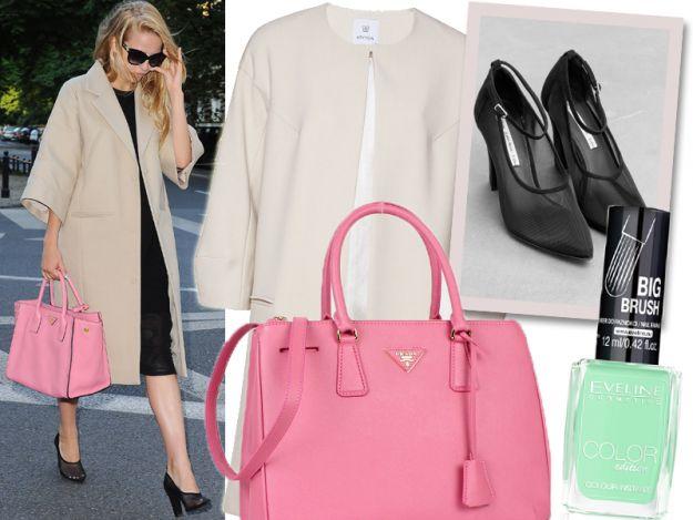 Moda i elegancka Jessica Mercedes z torebką Prady