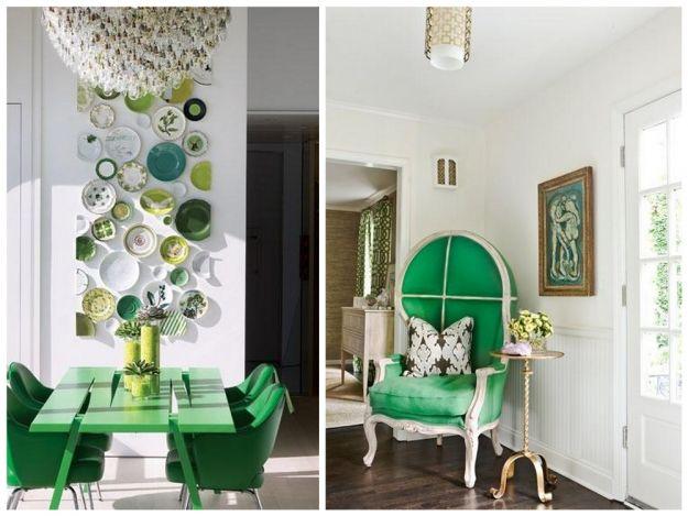 Miętowa zieleń w salonie