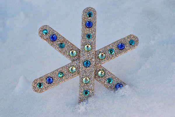 Płatki śniegu - kreatywne prace plastyczne