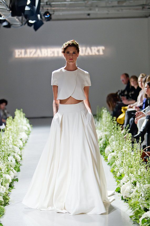 Dwuczęściowe suknie ślubne
