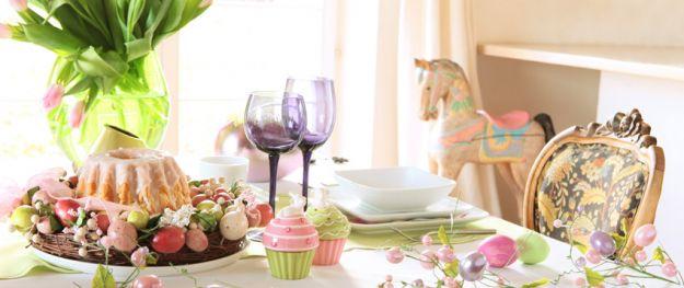 Wielkanocne dekoracje sto�u - trendy 2012